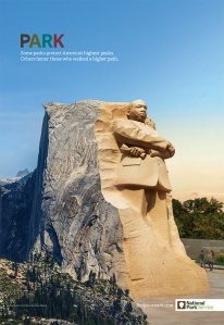 A recent National Park Service ad campaign juxtaposes urban parks and wilderness spaces.
